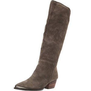 Chinese Laundry Taupe Calf Length Invincible Boot